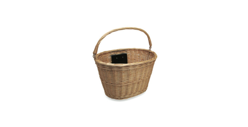 Electra Q/R Wicker Basket, Natural